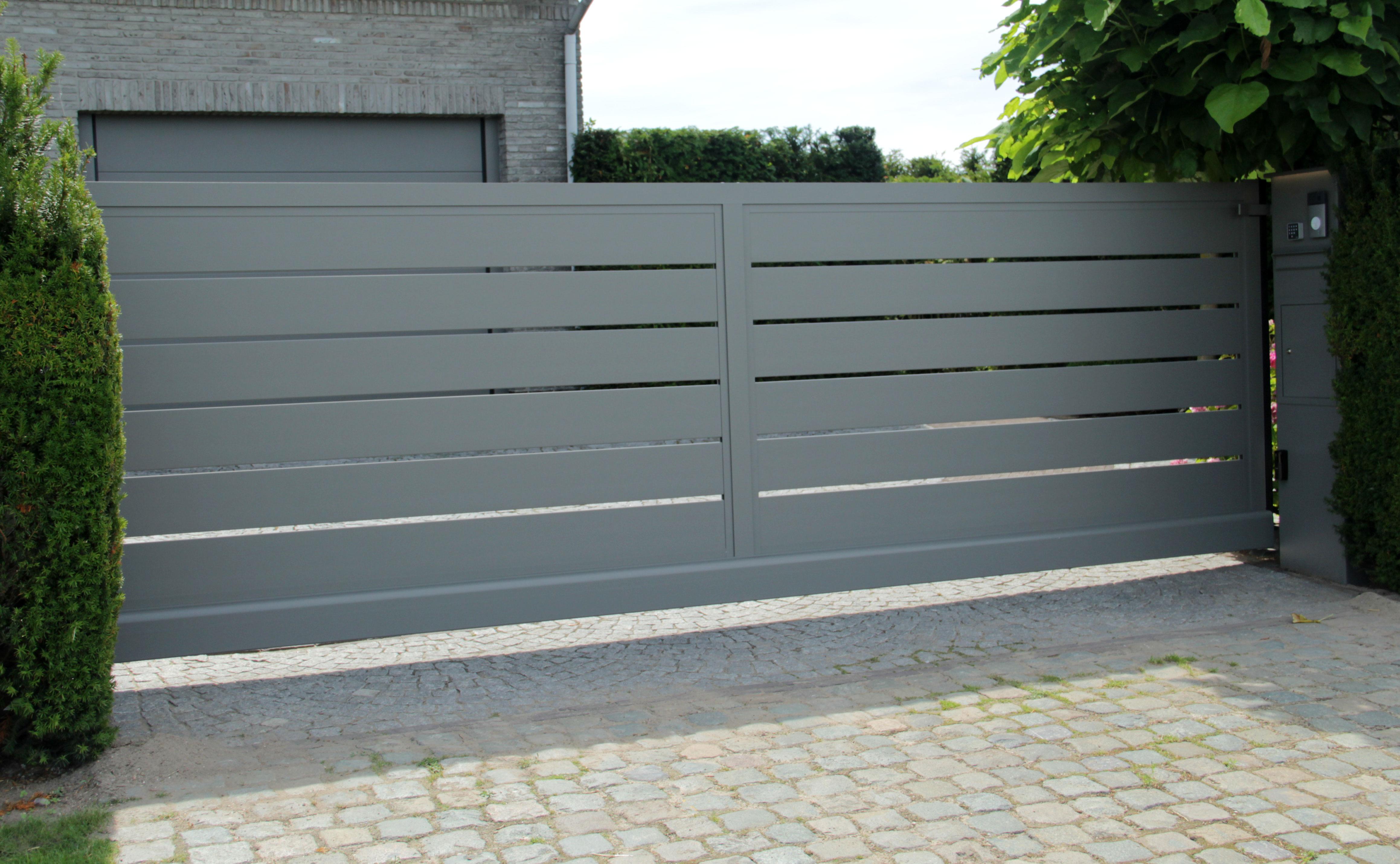 aluminium schuifpoort glenf - Poorten op maat voor particulieren en bedrijven
