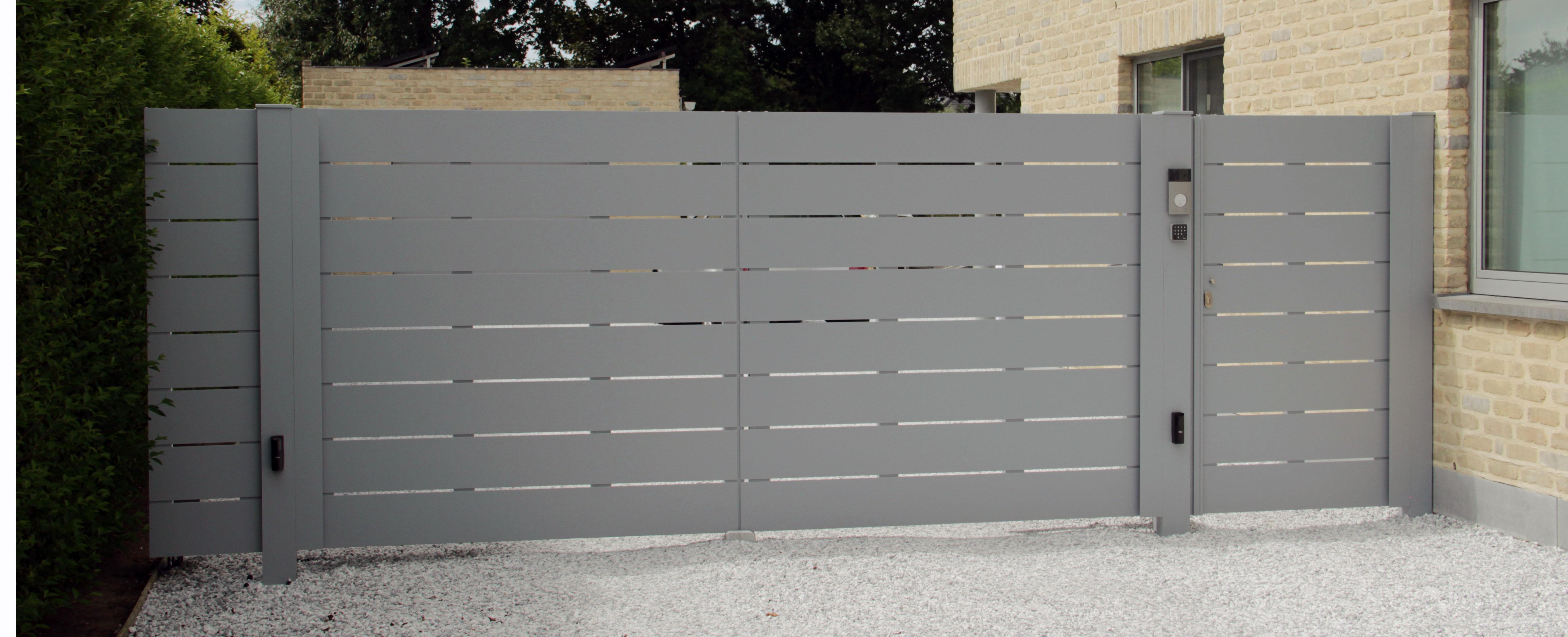 sliderfoto - Aluminium poorten: draai-, tuin- en schuifpoorten